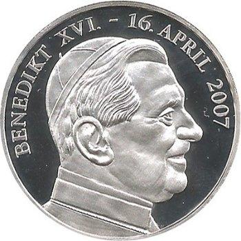 """Medaille """"80. Geburtstag von Papst Benedikt XVI."""""""