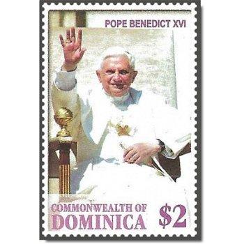Papst Benedikt XVI. - Briefmarke postfrisch, Dominica
