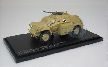 Militaria-Modell:Sd.Kfz. 222Leichter Panzerspähwagen (4x4)15. Panzer Division, DAK, Libyen 1942(Hobb