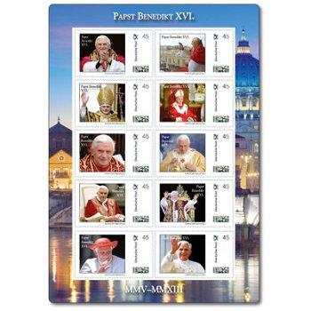 Pontifikat von Papst Benedikt XVI. - Kleinbogen postfrisch, Deutschland