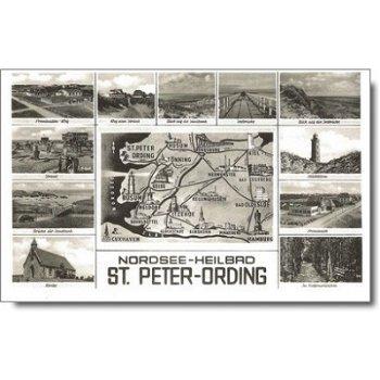 """2252 St. Peter-Ording - Postkarte """"Sehenswürdigkeiten"""""""