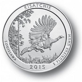 Kisatchie/Louisiana, Nationalpark Quarter Münze, USA