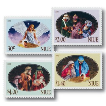 Christmas, The Christmas Story - 4 stamps mint never hinged, Niue