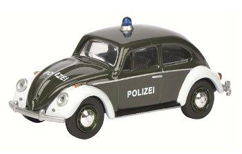 Modellauto:VW Käfer - Polizei -(Schuco, 1:64)