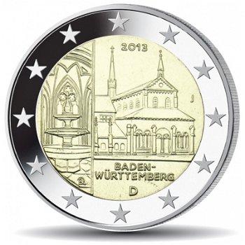 2 Euro Münze 2013, Kloster Maulbronn / Baden-Württemberg, Deutschland, 1 Prägezeichen