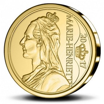 Königin Marie-Henriette, 12,50 Euro Goldmünze 2017, Belgien