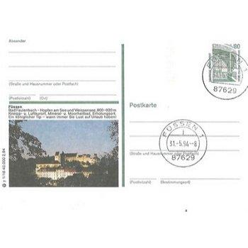 """8958 Füssen - Bildpostkarte """"Hopfen am See und Weissensee"""""""