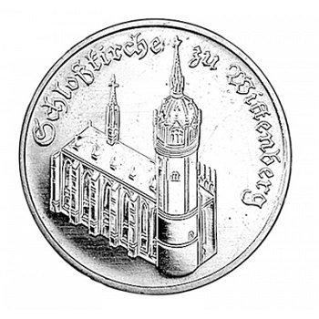 5-Mark-Münze 1983, Schloßkirche zu Wittenberg, DDR