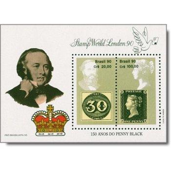 Stamp World London '90 - Briefmarken-Block postfrisch, Brasilien