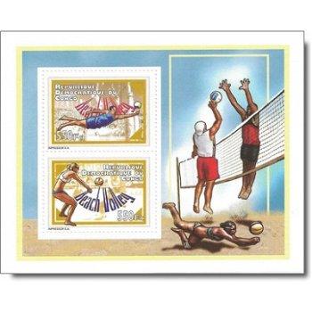 Beachvolleyball - Briefmarken-Block postfrisch, Kongo