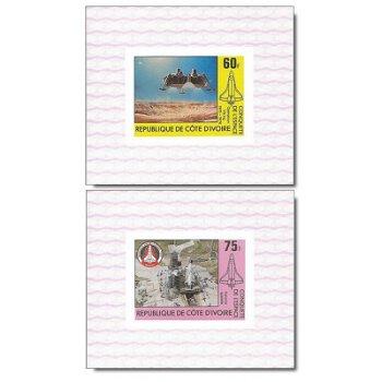 Raumfahrt - 4 Luxusblocks postfrisch, Katalog-Nr. 680B-683B, Elfenbeinküste