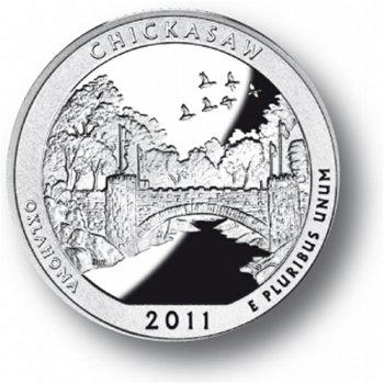 Chickasaw/Oklahoma, Nationalpark Quarter Münze, USA