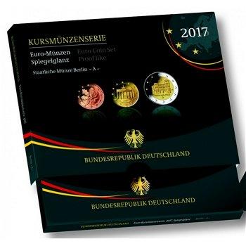 Kursmünzensatz 2017, Porta Nigra, Polierte Platte ohne Auswahl der Prägestätte, Deutschland
