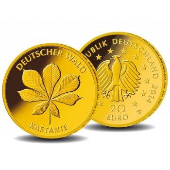 20 Euro Goldmünze 2014, Deutscher Wald: Kastanie