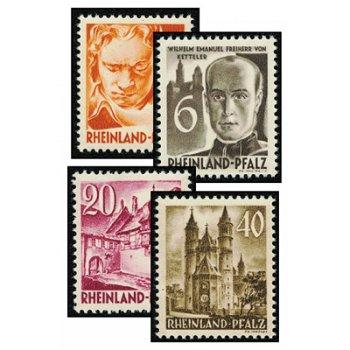 Persönlichkeiten und Ansichten aus Rheinland Pfalz - 10 Briefmarken postfrisch, Katalog-Nr. 32-41, F