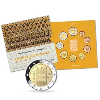 Kursmünzensatz 2020, Stempelglanz, Spanien