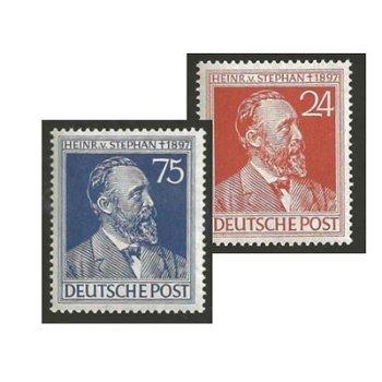 Heinrich von Stephan - 2 Briefmarken postfrisch, Katalog-Nr. 963-64, Alliierte Besetzung