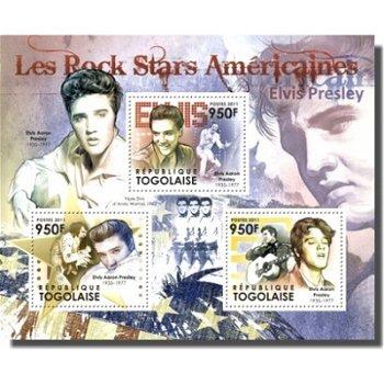 Elvis Presley - Briefmarken-Block, Togo