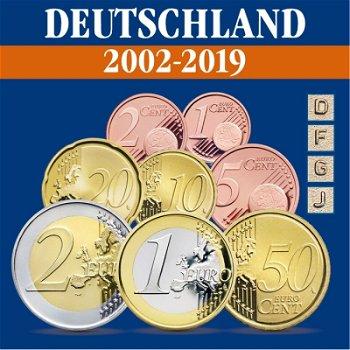Deutschland - Kursmünzensätze alle Jahrgänge 2002-2019, Prägezeichen D, F, J, G