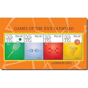 Olympische Spiele 2012 - Briefmarken-Block, Palau