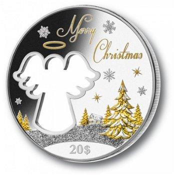 Der Weihnachtsengel, 20 Dollar Silbermünze, Kiribati