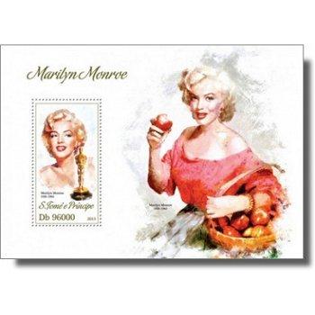 Marilyn Monroe - Briefmarken-Block postfrisch, St. Thomas