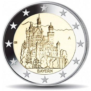 2 Euro Münze 2012, Schloss Neuschwanstein / Bayern, Deutschland, 1 Prägezeichen