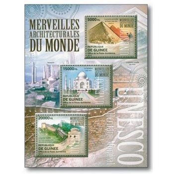Berühmte Stätten des Weltkulturerbes - Briefmarkenblock postfrisch, Guinea