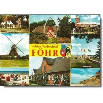 """2270 Föhr - Postkarte """"Sehenswürdigkeiten"""""""