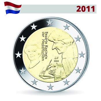 2 Euro Münze 2011, Erasmus von Rotterdam, Niederlande
