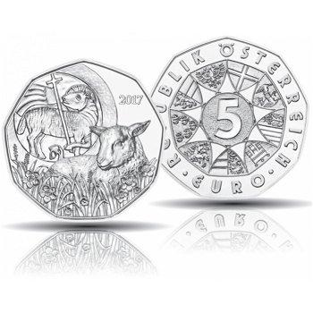 Das Osterlamm, 5 Euro Silbermünze 2017, Österreich