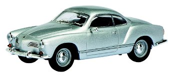 Modellauto:VW Karmann Ghia, silber-metallic(Schuco, 1:32)