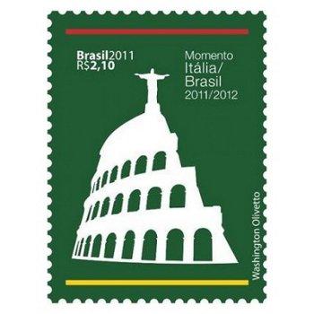 Diplomatische Beziehungen mit Italien – Briefmarke postfrisch, Katalog-Nr. 3943, Brasilien