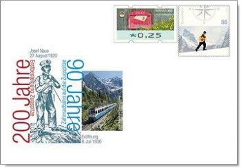 Erstbesteigung Zugspitze und Bayerische Zugspitzbahn - Ganzsache postfrisch, Deutschland
