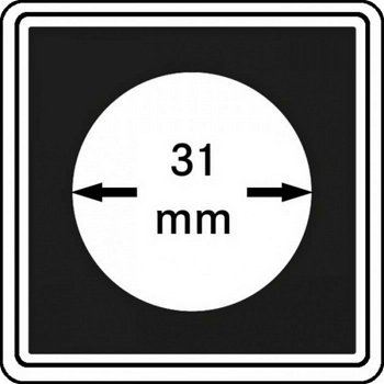 Münzkapseln CARRÉE 31 mm, 4er Pack, LI 2240031