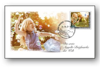Edelsteine der Philatelie: ANGELIT-Ersttagsbrief, Liechtenstein