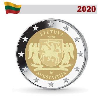 Litauische ethnographische Regionen - Oberlitauen, 2 Euro Münze 2020, Litauen