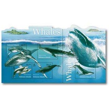 Wale - Briefmarken-Block postfrisch, Salomon-Inseln