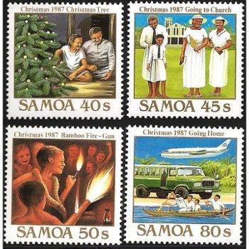 Weihnachten – vier Briefmarken postfrisch, Katalog-Nr. 626-629, Samoa