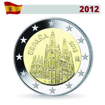 2 Euro Münze 2012, Kathedrale von Burgos, Spanien