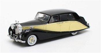 Modellauto:Rolls-Royce SilverWraith Hooper Design - Empress Line -von 1956, schwarz-gelb(Matrix, 1:4