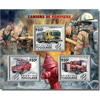 Feuerwehrauto - Briefmarken-Block postfrisch, Togo