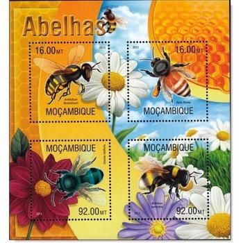 Insekten: Bienen - Briefmarken-Block postfrisch, Mocambique