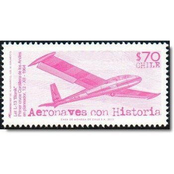 Flugzeuge/Segelflugzeug - Briefmarke postfrisch, Chile
