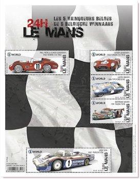 Gewinner von Le Mans - Briefmarkenblock postfrisch, Belgien