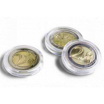 Münzkapseln Premium ULTRA ohne Griffrand , 26 mm, 10er Pack für 2 Euro-Münzen, Leuchtturm 345007
