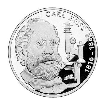 """10-DM-Silbermünze """"100. Todestag Carl Zeiss"""", Stempelglanz"""