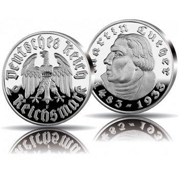 Jubiläumsprägung der Reichsmark in Silber