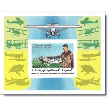 Geschichte der Luftfahrt - Briefmarken-Block ungezähnt postfrisch, Katalog-Nr. 581 Bl. 18B, Mauretan