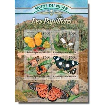 Schmetterlinge - Briefmarken-Block postfrisch, Katalog-Nr. 2021-2024, Niger